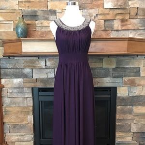 Haani deep purple jersey maxi dress small NWOT